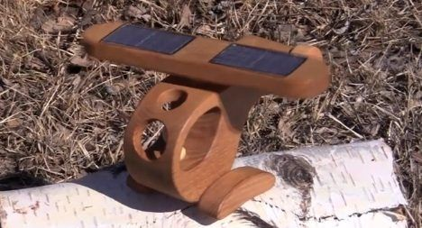 Solar powered toy helicopters