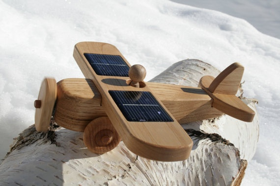 Solar Powered Wooden toy